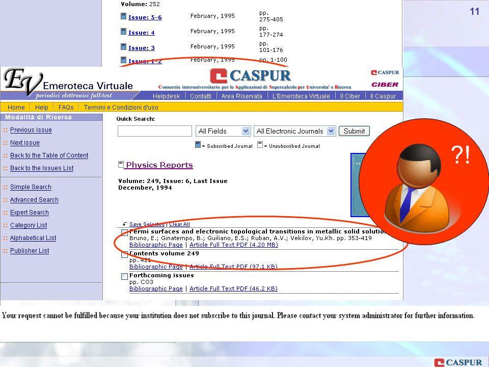 Carlo Maria Serio - c.serio@caspur.it 11 !