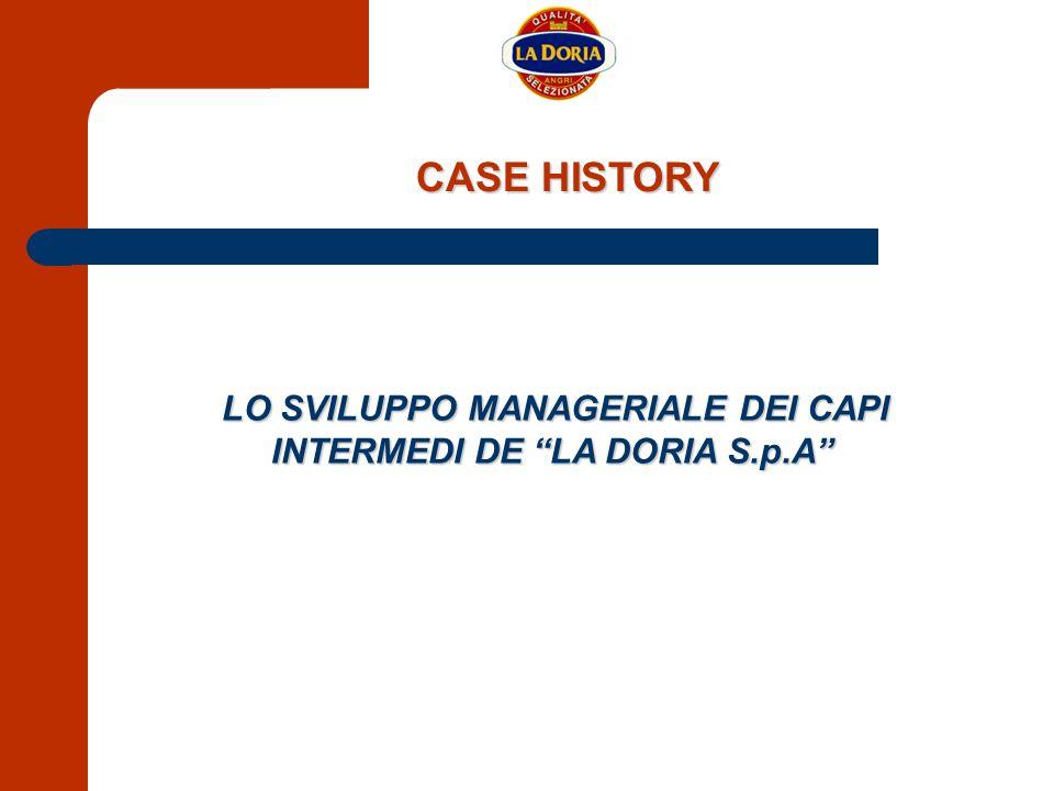 CASE HISTORY LO SVILUPPO MANAGERIALE DEI CAPI INTERMEDI DE LA DORIA S.p.A LO SVILUPPO MANAGERIALE DEI CAPI INTERMEDI DE LA DORIA S.p.A