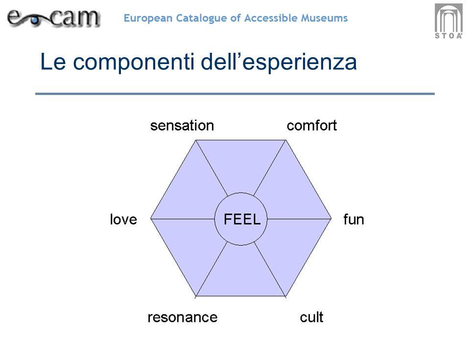 Le componenti dellesperienza