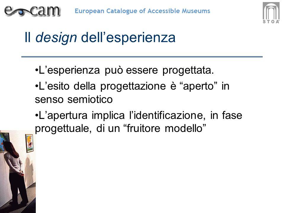 Il design dellesperienza Lesperienza può essere progettata.