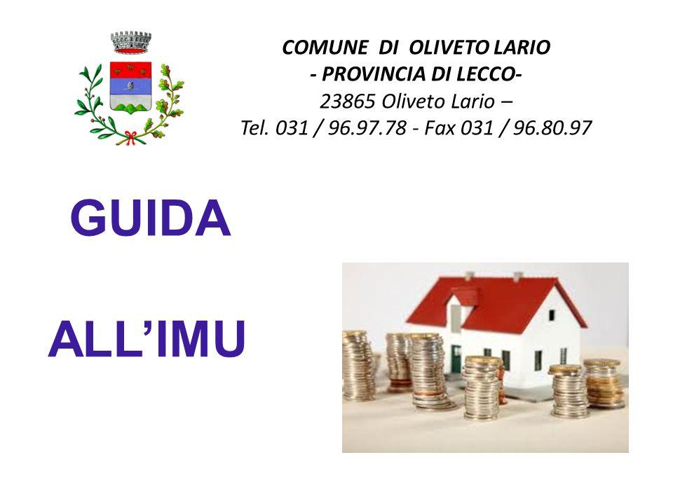 COMUNE DI OLIVETO LARIO - PROVINCIA DI LECCO- 23865 Oliveto Lario – Tel. 031 / 96.97.78 - Fax 031 / 96.80.97 GUIDA ALLIMU