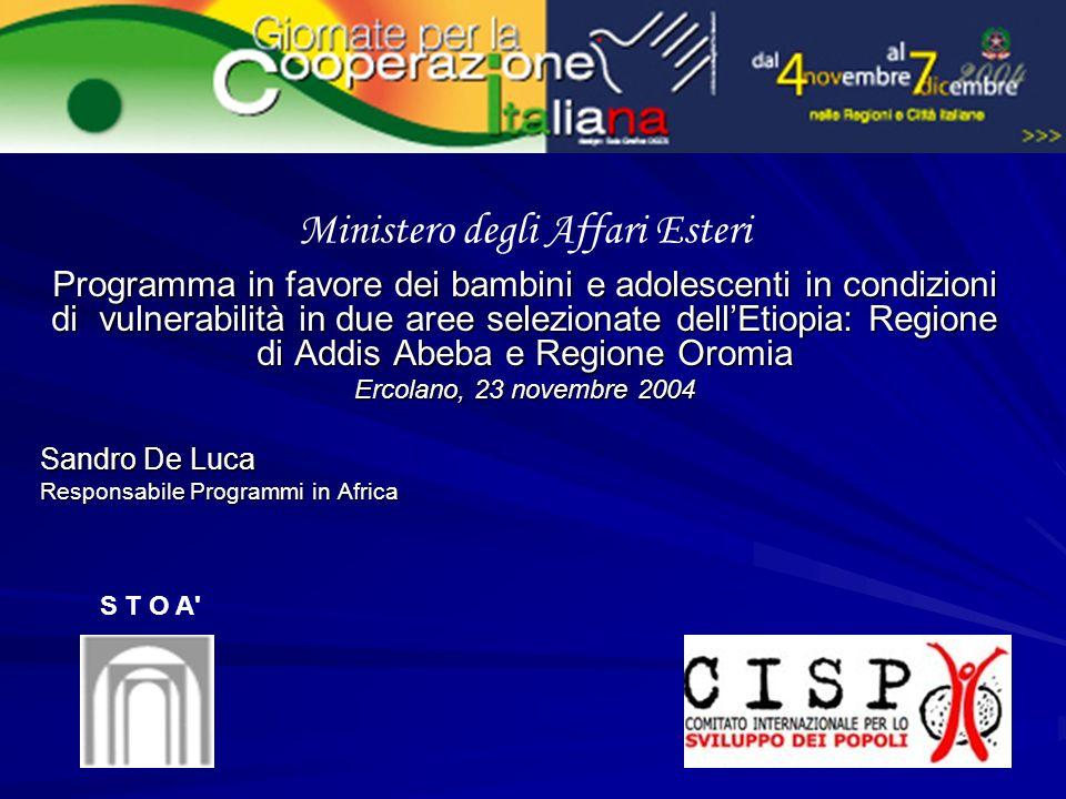Il CISP opera in Etiopia da circa venti anni.