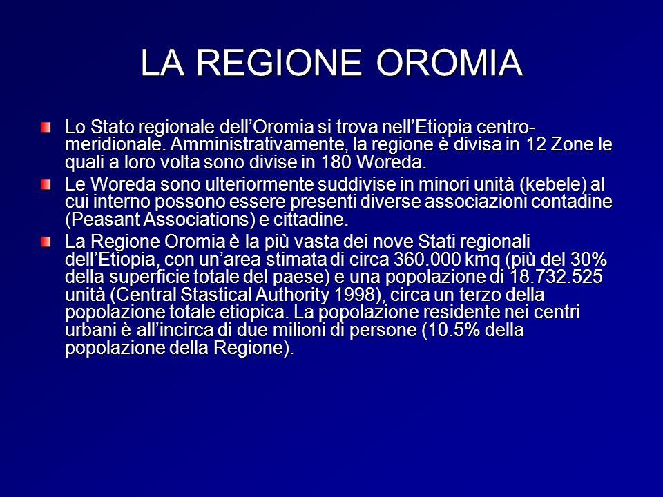 LA REGIONE OROMIA Lo Stato regionale dellOromia si trova nellEtiopia centro- meridionale.