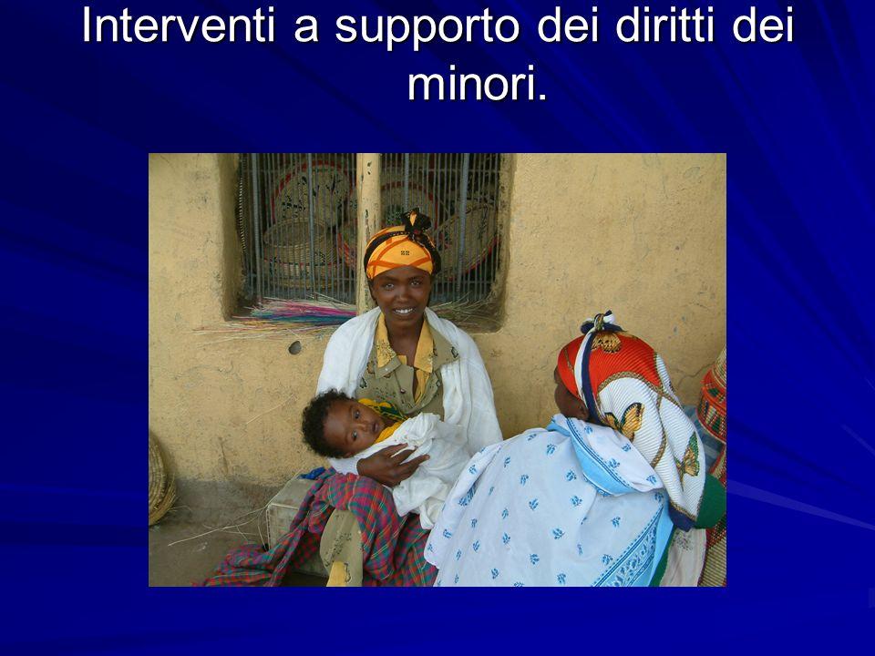 Interventi a supporto dei diritti dei minori.