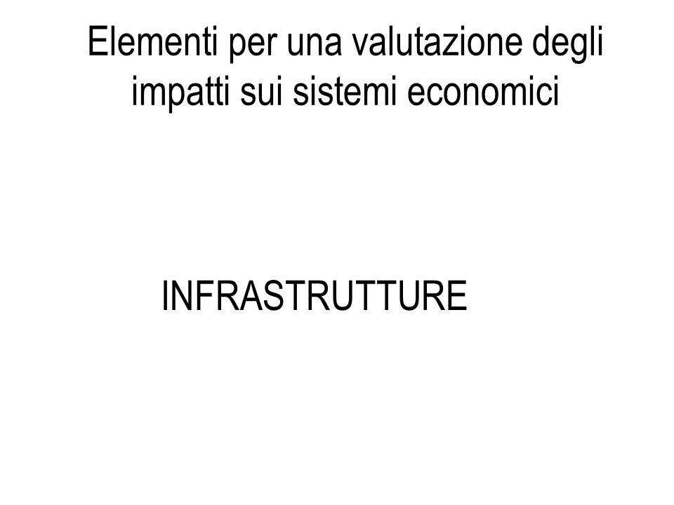 INFRASTRUTTURE Elementi per una valutazione degli impatti sui sistemi economici