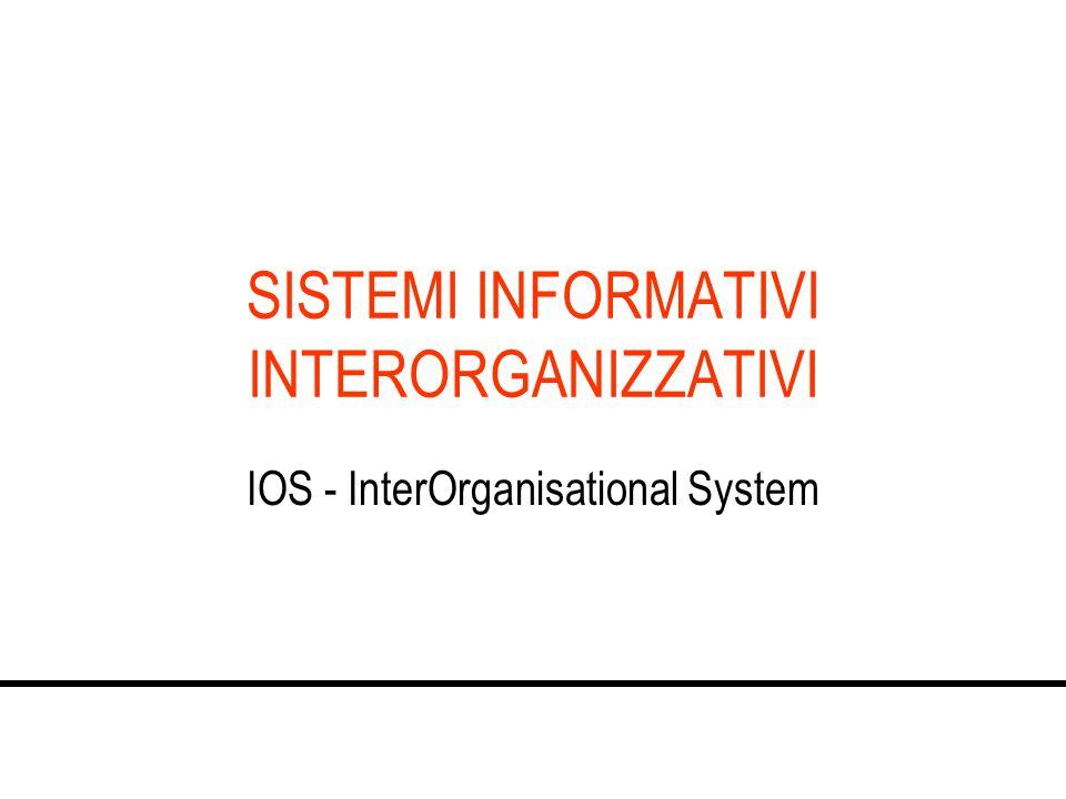 SISTEMI INFORMATIVI INTERORGANIZZATIVI IOS - InterOrganisational System