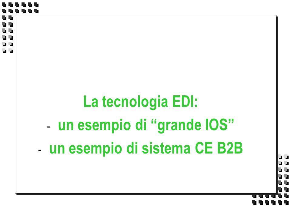 La tecnologia EDI: - un esempio di grande IOS - un esempio di sistema CE B2B
