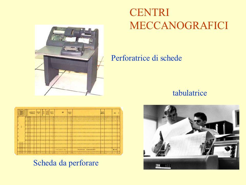 Perforatrice di schede Scheda da perforare tabulatrice CENTRI MECCANOGRAFICI