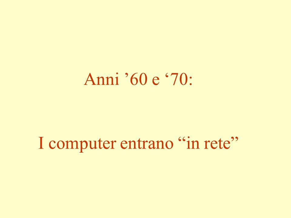Anni 60 e 70: I computer entrano in rete