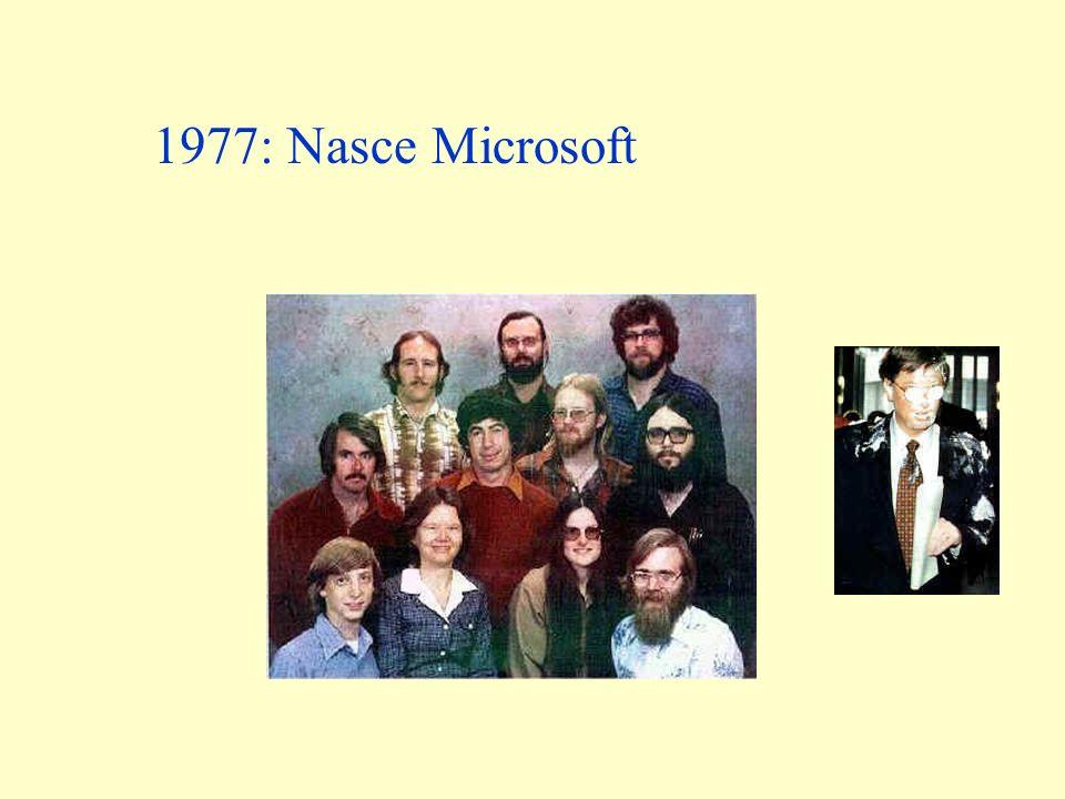 1977: Nasce Microsoft