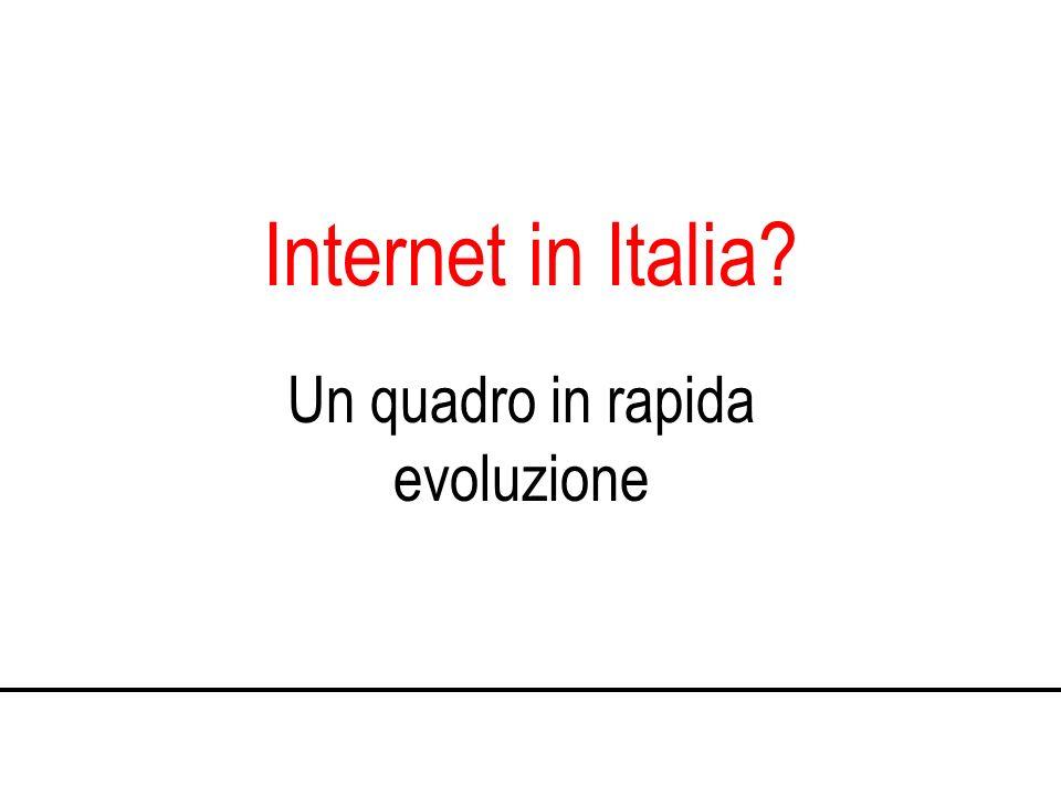 Internet in Italia Un quadro in rapida evoluzione