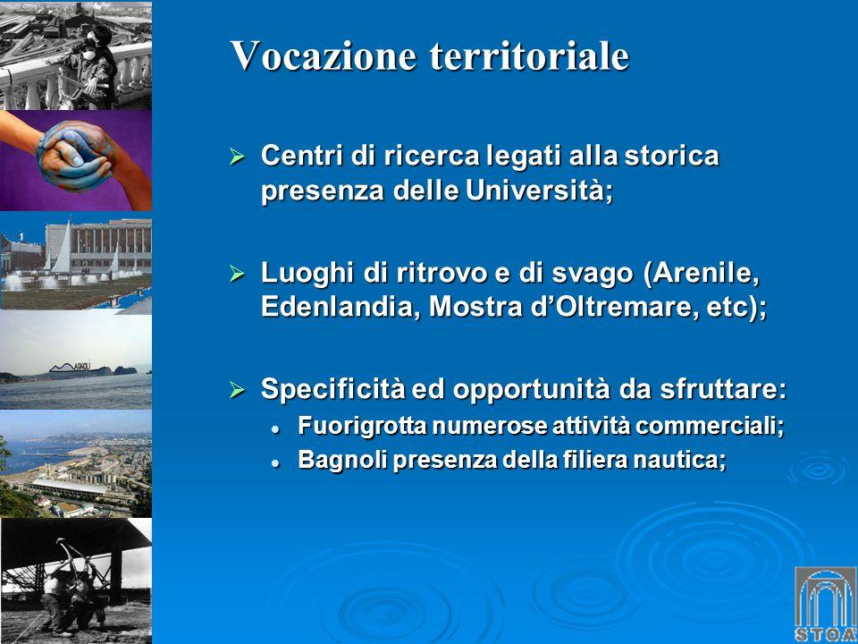 Vocazione territoriale Centri di ricerca legati alla storica presenza delle Università; Centri di ricerca legati alla storica presenza delle Universit