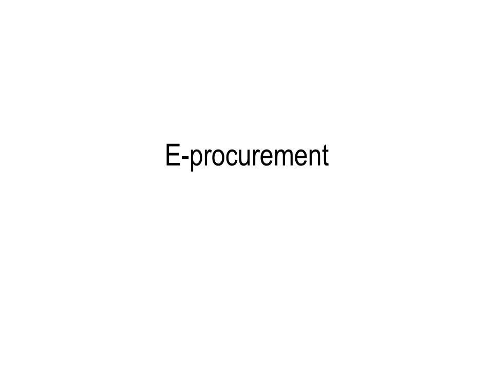 Insieme delle tecnologie che supportano le attività di procurement di unazienda (ossia: gli approvvigionamenti) tecnologia per il b2b i sistemi supportano (in parte) le transazioni b2b