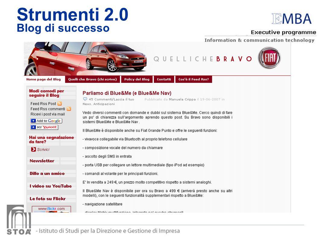 Strumenti 2.0 Blog di successo