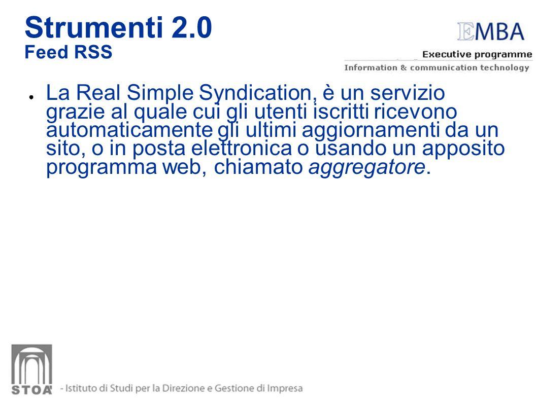 La Real Simple Syndication, è un servizio grazie al quale cui gli utenti iscritti ricevono automaticamente gli ultimi aggiornamenti da un sito, o in p