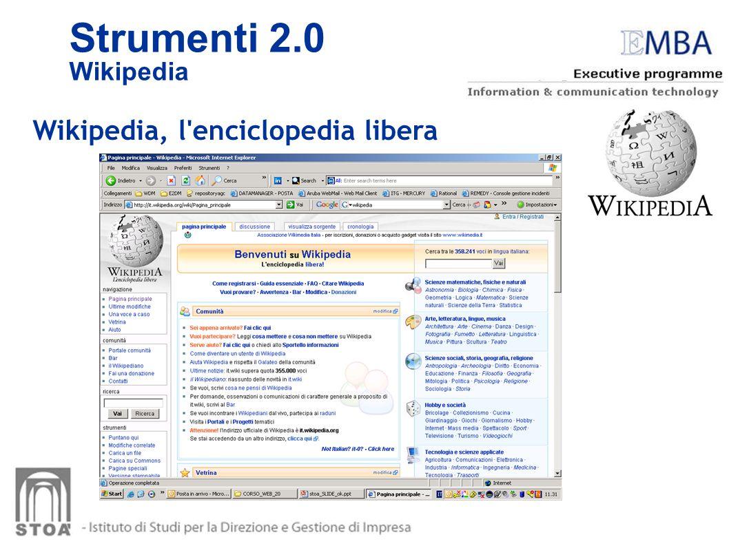 Wikipedia, l'enciclopedia libera Strumenti 2.0 Wikipedia