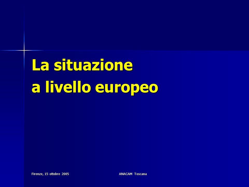 Firenze, 15 ottobre 2005ANACAM Toscana La situazione a livello europeo