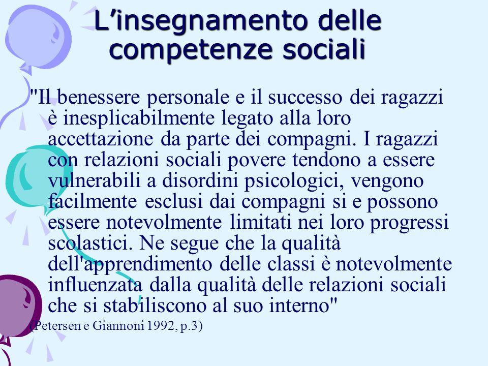 Linsegnamento delle competenze sociali
