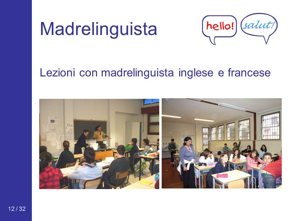 12 / 32 Madrelinguista Lezioni con madrelinguista inglese e francese
