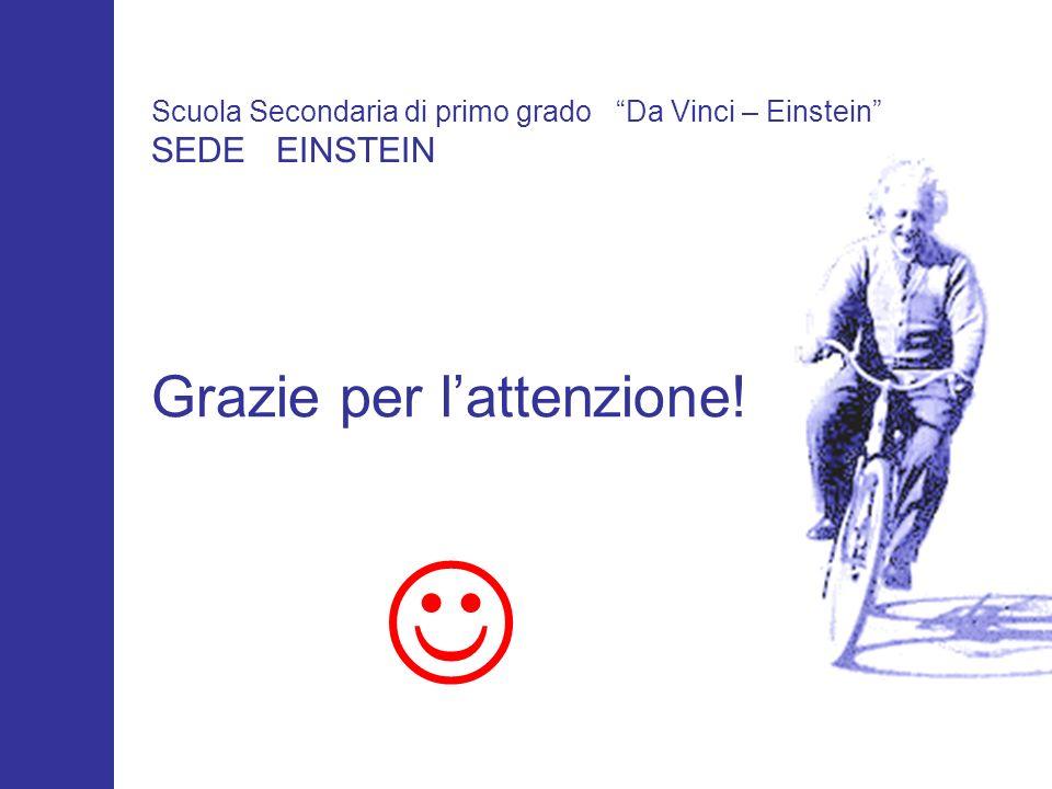 Grazie per lattenzione! Scuola Secondaria di primo grado Da Vinci – Einstein SEDE EINSTEIN