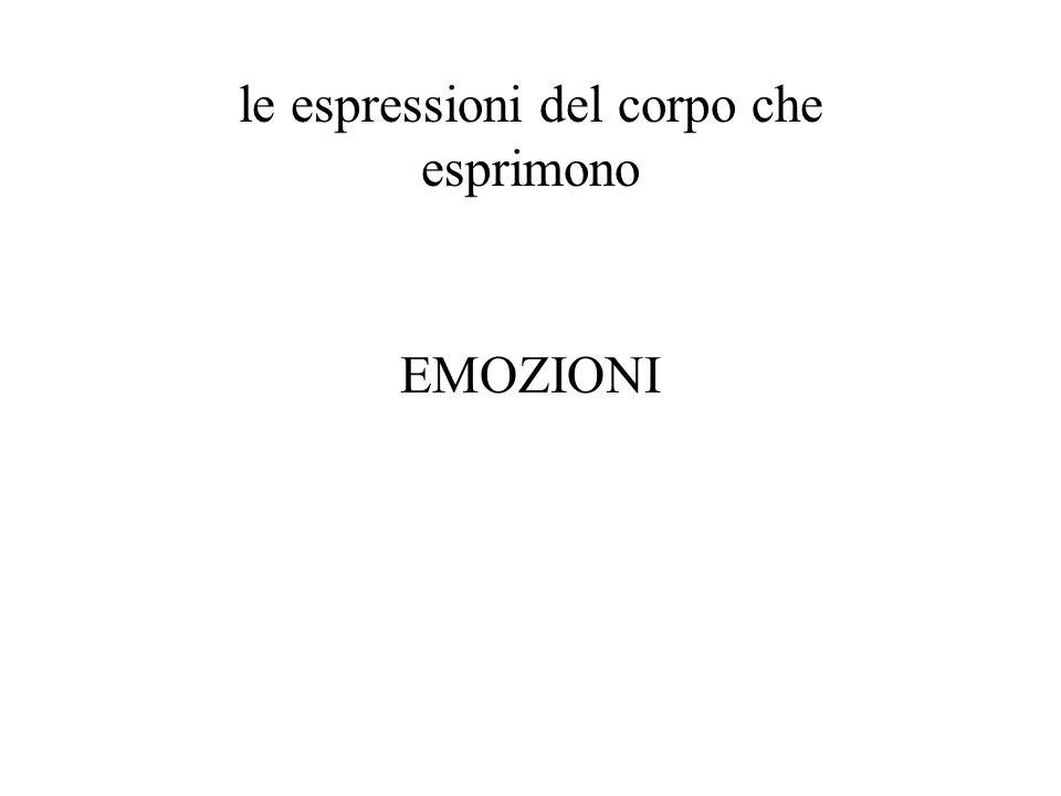 le espressioni del corpo che esprimono EMOZIONI