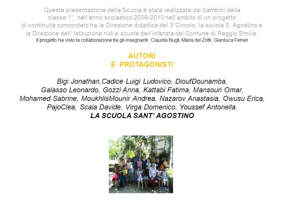 Questa presentazione della Scuola è stata realizzata dai bambini della classe 1°, nellanno scolastico 2009-2010 nellambito di un progetto di continuità concordato tra la Direzione didattica del 3°Circolo, la scuola S.