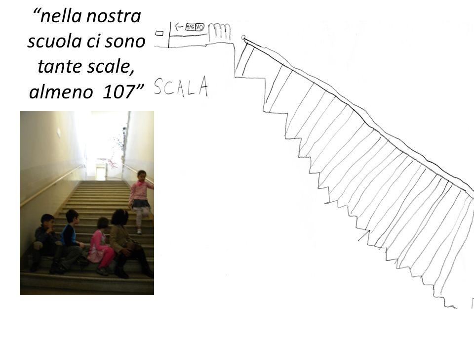 nella nostra scuola ci sono tante scale, almeno 107