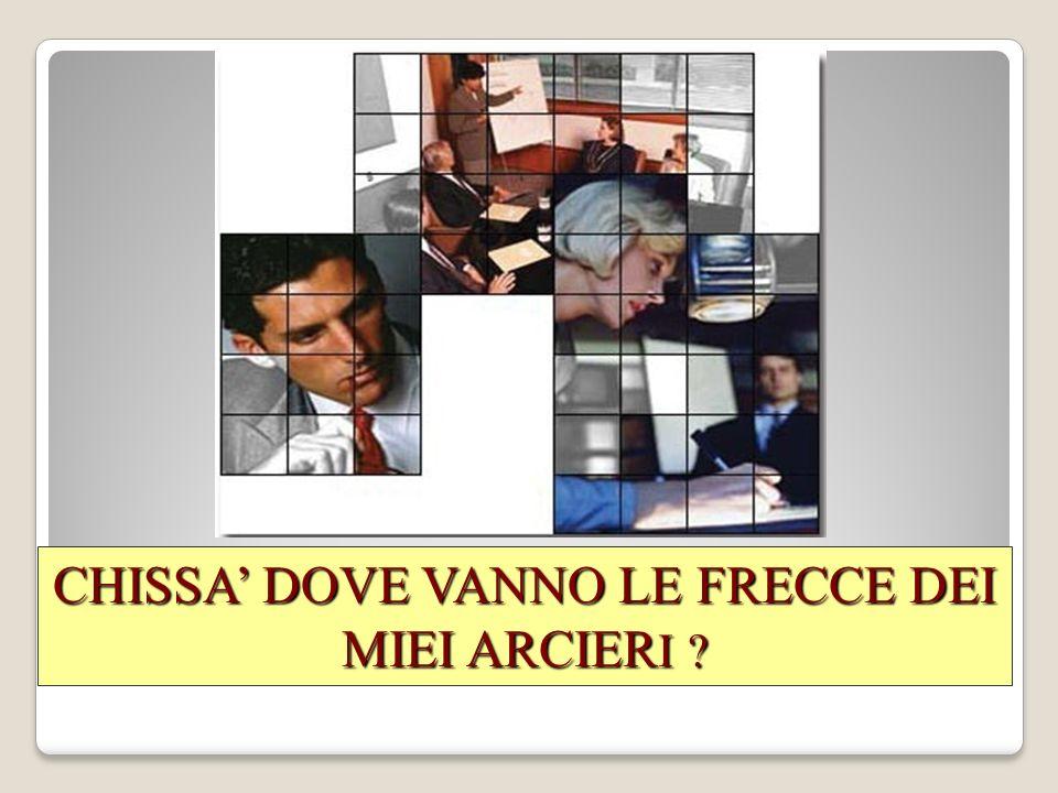 CHISSA DOVE VANNO LE FRECCE DEI MIEI ARCIER I