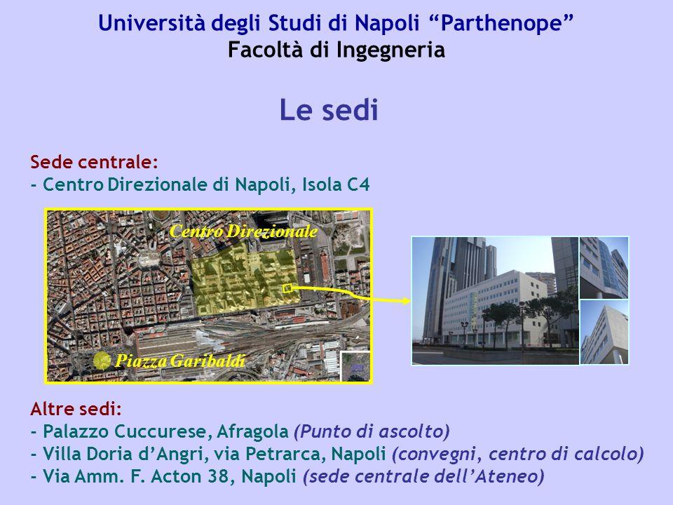 Università degli Studi di Napoli Parthenope Facoltà di Ingegneria Aule e lezioni La sede del Centro Direzionale