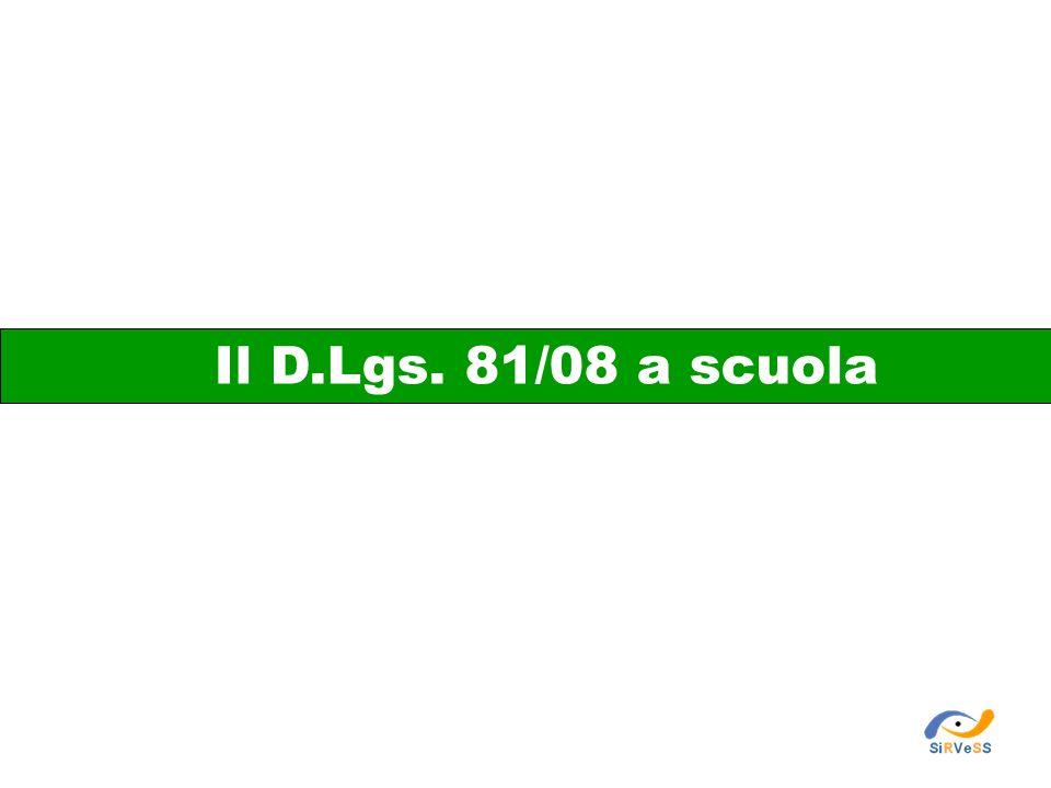 Il D.Lgs. 81/08 a scuola