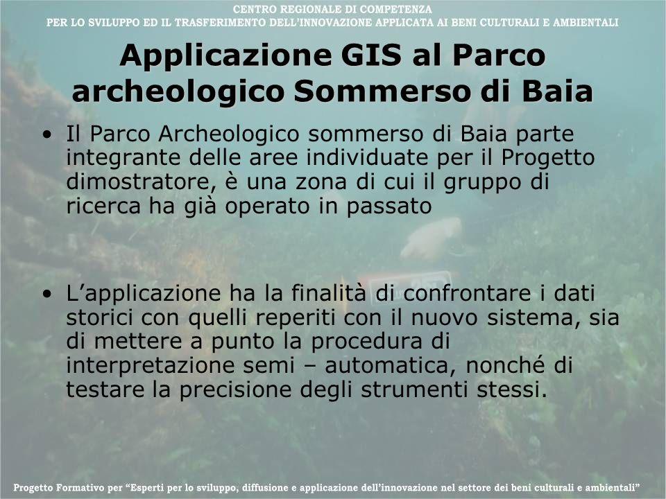 Applicazione GIS al Parco archeologico Sommerso di Baia Il Parco Archeologico sommerso di Baia parte integrante delle aree individuate per il Progetto