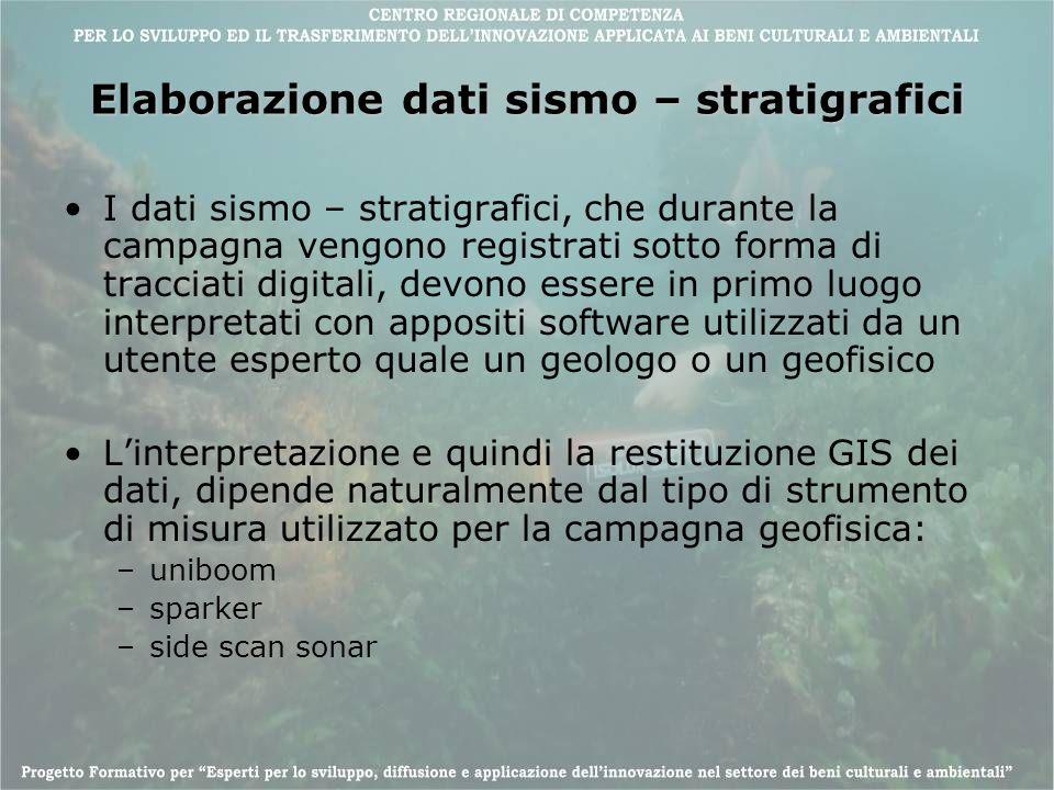 Elaborazione dati sismo – stratigrafici I dati sismo – stratigrafici, che durante la campagna vengono registrati sotto forma di tracciati digitali, de