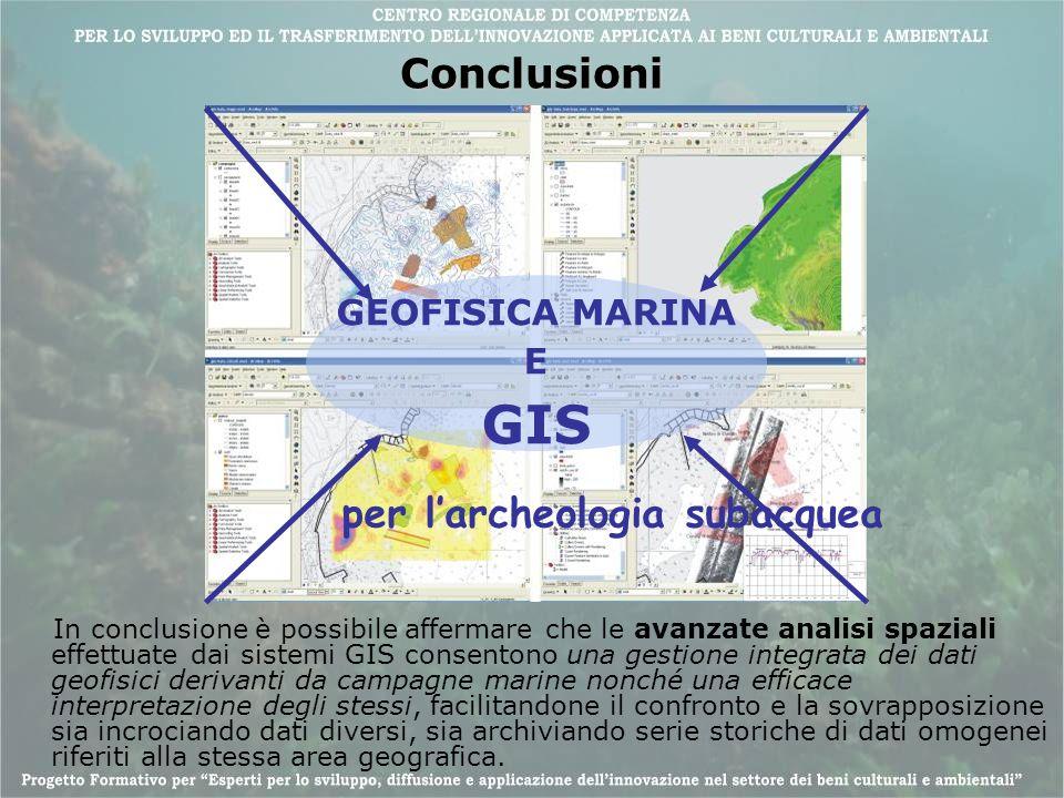 Conclusioni In conclusione è possibile affermare che le avanzate analisi spaziali effettuate dai sistemi GIS consentono una gestione integrata dei dat