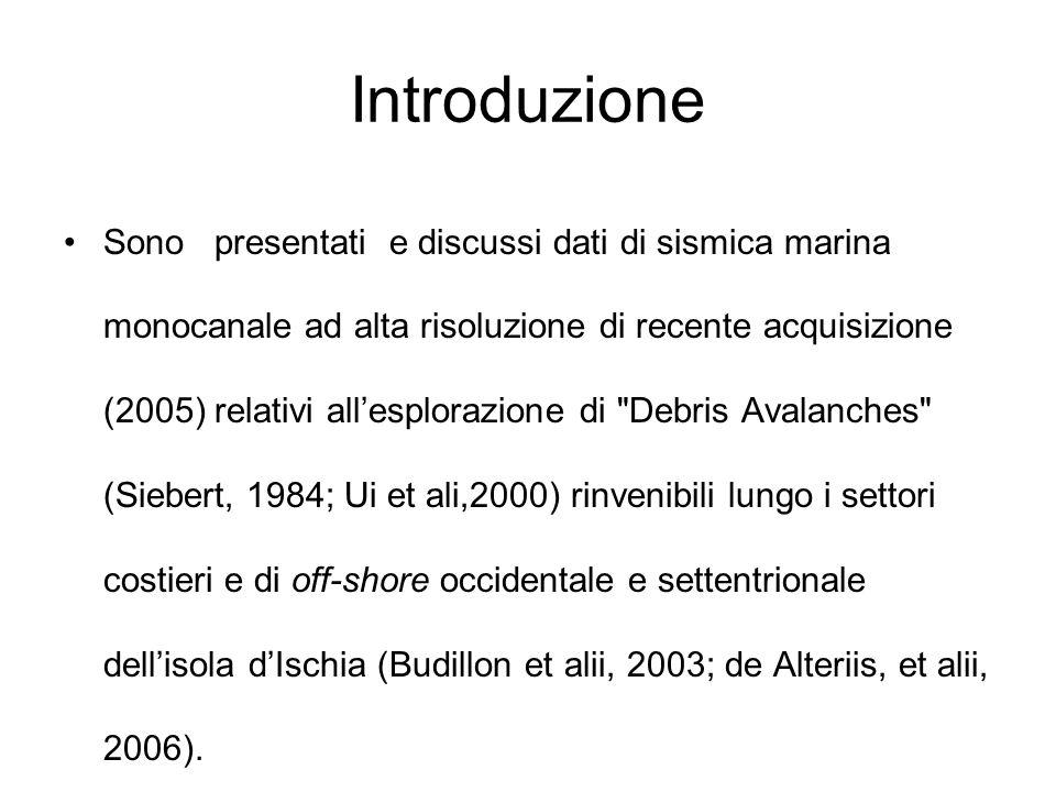 Introduzione Sono presentati e discussi dati di sismica marina monocanale ad alta risoluzione di recente acquisizione (2005) relativi allesplorazione
