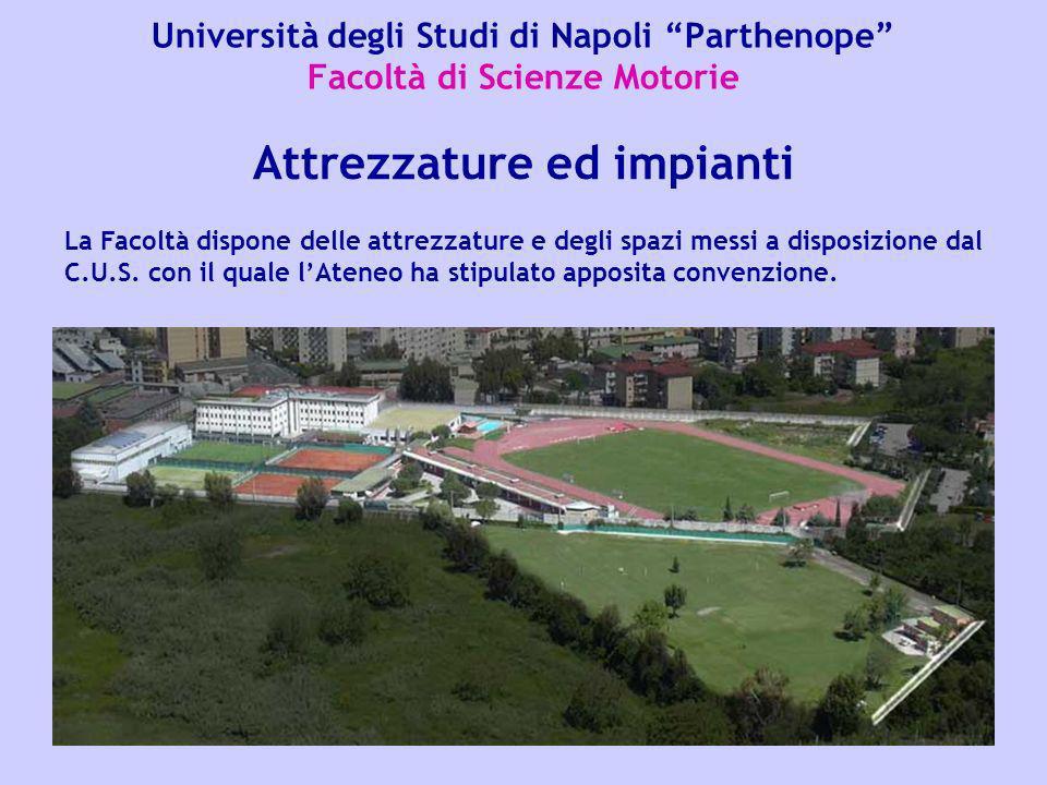 Università degli Studi di Napoli Parthenope Facoltà di Scienze Motorie Le attività della Facoltà di Scienze Motorie si svolgono presso più sedi: –la sede centrale dell Ateneo, in Napoli alla Via Amm.