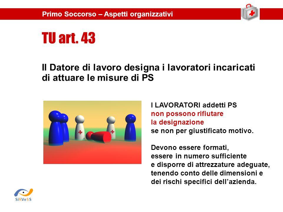 Il Datore di lavoro designa i lavoratori incaricati di attuare le misure di PS TU art.