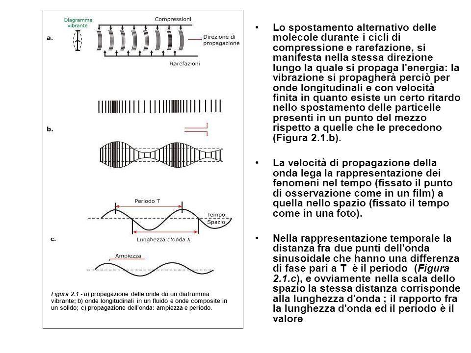Lo spostamento alternativo delle molecole durante i cicli di compressione e rarefazione, si manifesta nella stessa direzione lungo la quale si propaga