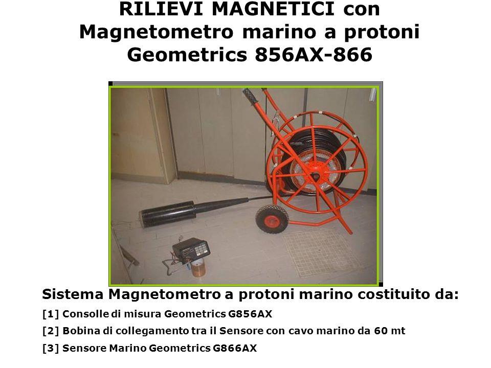 RILIEVI MAGNETICI con Magnetometro marino a protoni Geometrics 856AX-866 Sistema Magnetometro a protoni marino costituito da: [1] Consolle di misura G