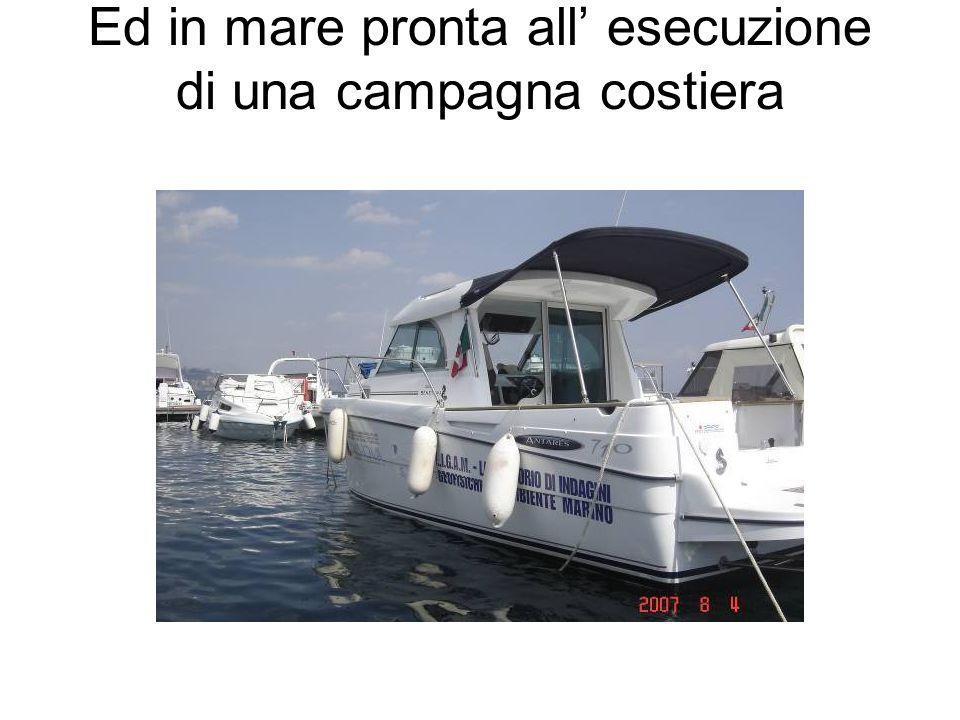 Ed in mare pronta all esecuzione di una campagna costiera