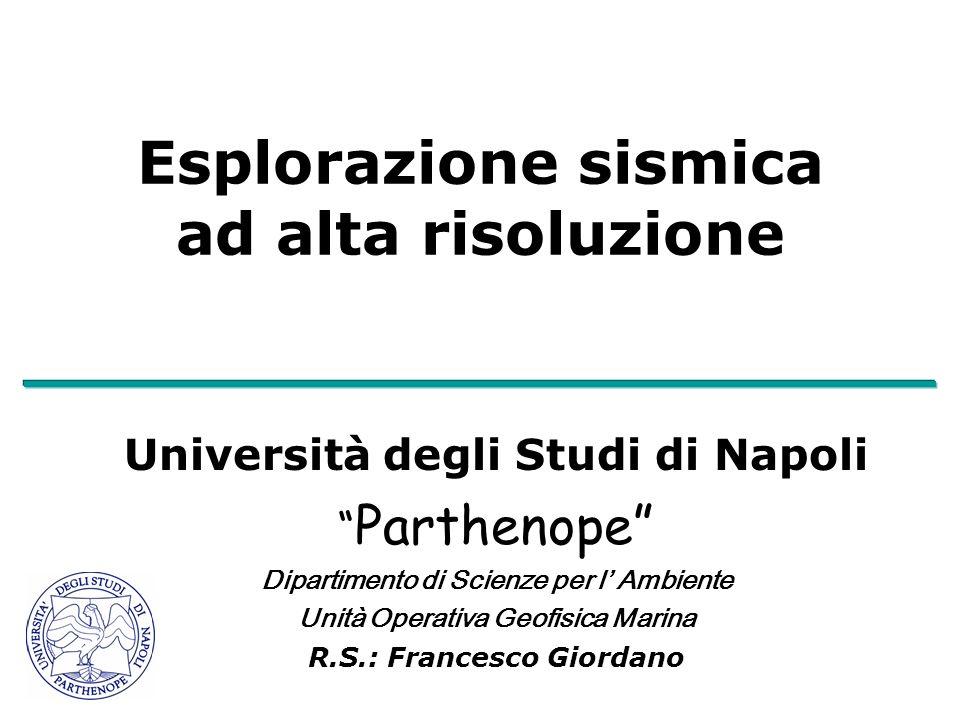 Esplorazione sismica ad alta risoluzione Università degli Studi di Napoli Parthenope Dipartimento di Scienze per l Ambiente Unità Operativa Geofisica Marina R.S.: Francesco Giordano