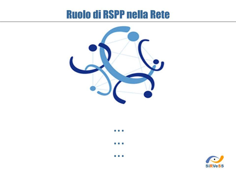 Ruolo di RSPP nella Rete... SiRVeSS