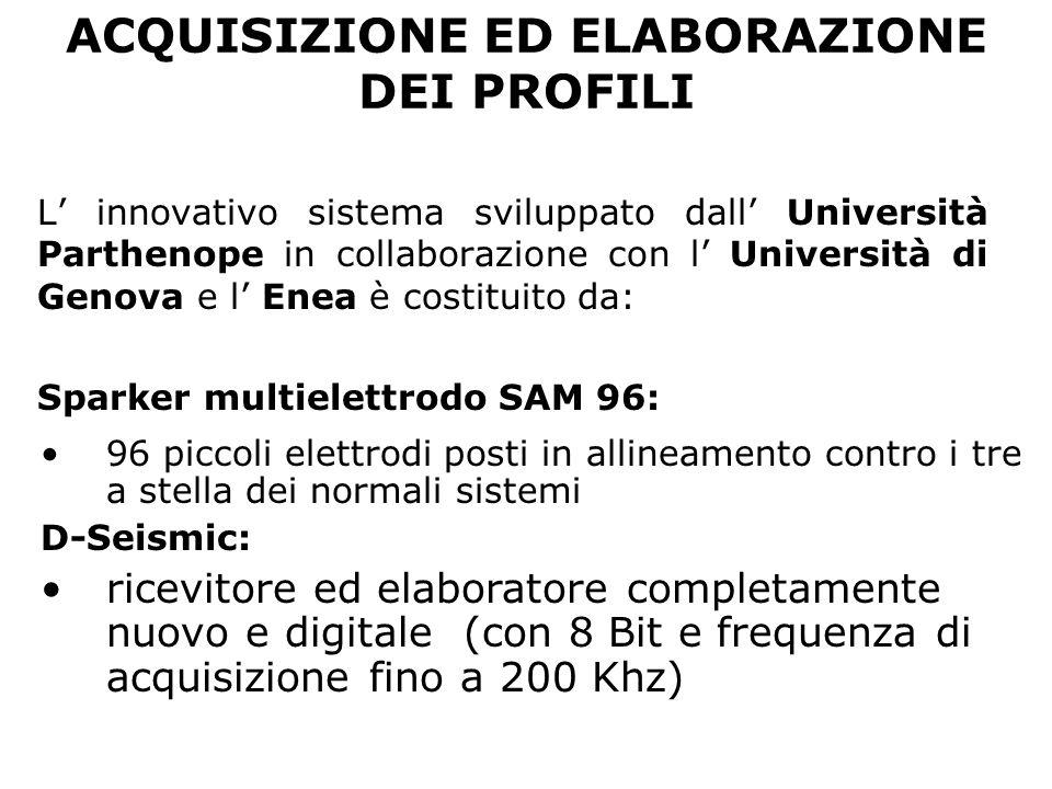 ACQUISIZIONE ED ELABORAZIONE DEI PROFILI L innovativo sistema sviluppato dall Università Parthenope in collaborazione con l Università di Genova e l E