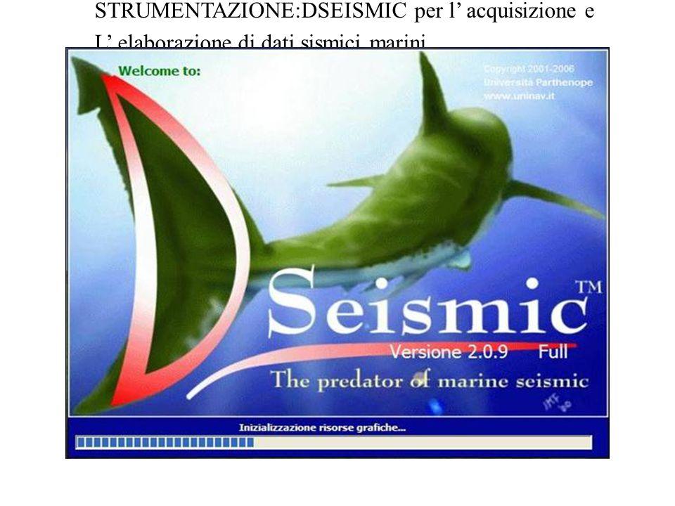STRUMENTAZIONE:DSEISMIC per l acquisizione e L elaborazione di dati sismici marini