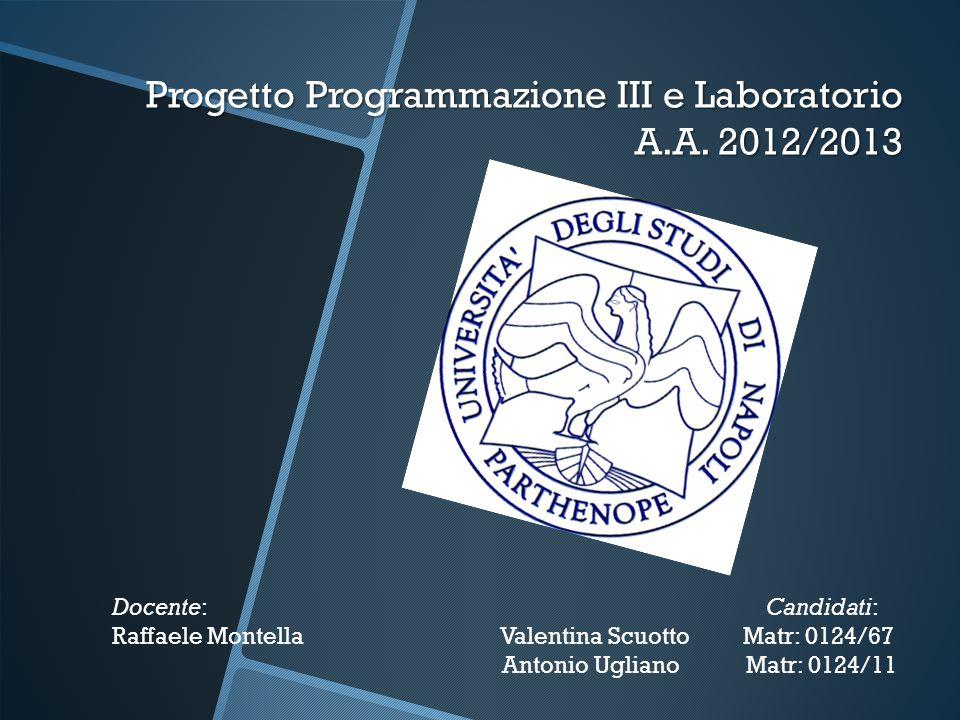 Progetto Programmazione III e Laboratorio A.A.