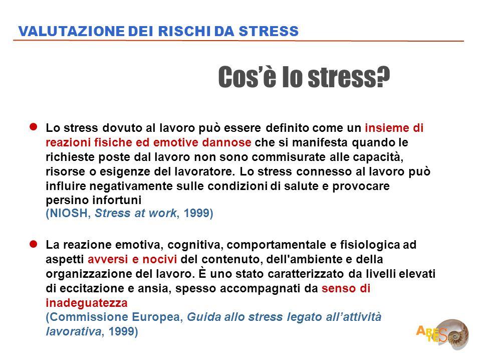 Lo stress dovuto al lavoro può essere definito come un insieme di reazioni fisiche ed emotive dannose che si manifesta quando le richieste poste dal l