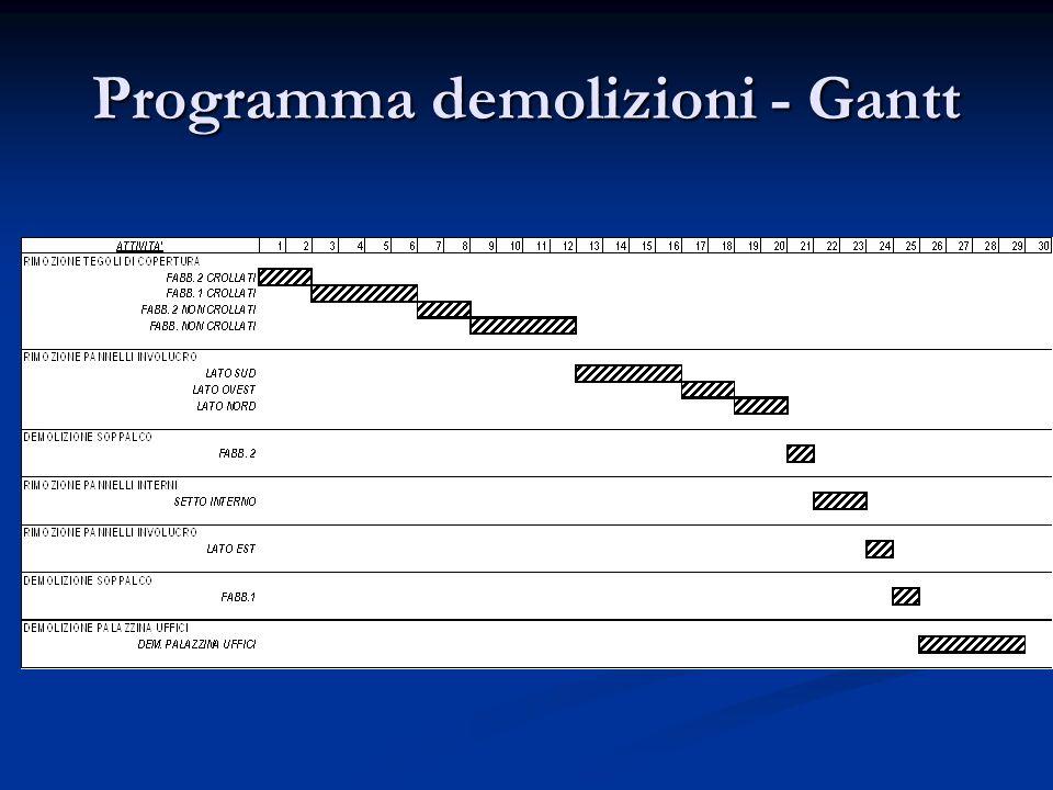 Programma demolizioni - Gantt