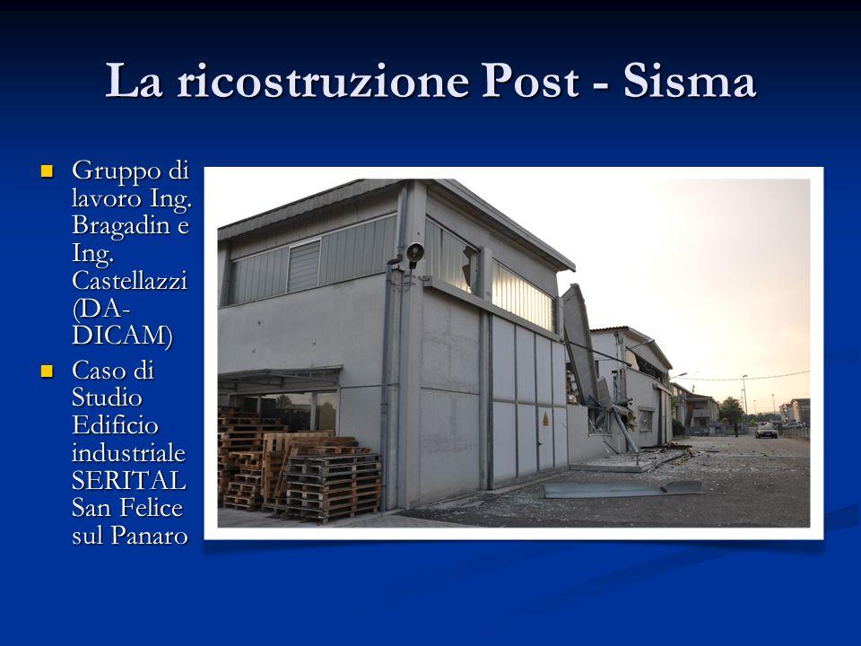 La ricostruzione Post - Sisma Gruppo di lavoro Ing. Bragadin e Ing. Castellazzi (DA- DICAM) Gruppo di lavoro Ing. Bragadin e Ing. Castellazzi (DA- DIC