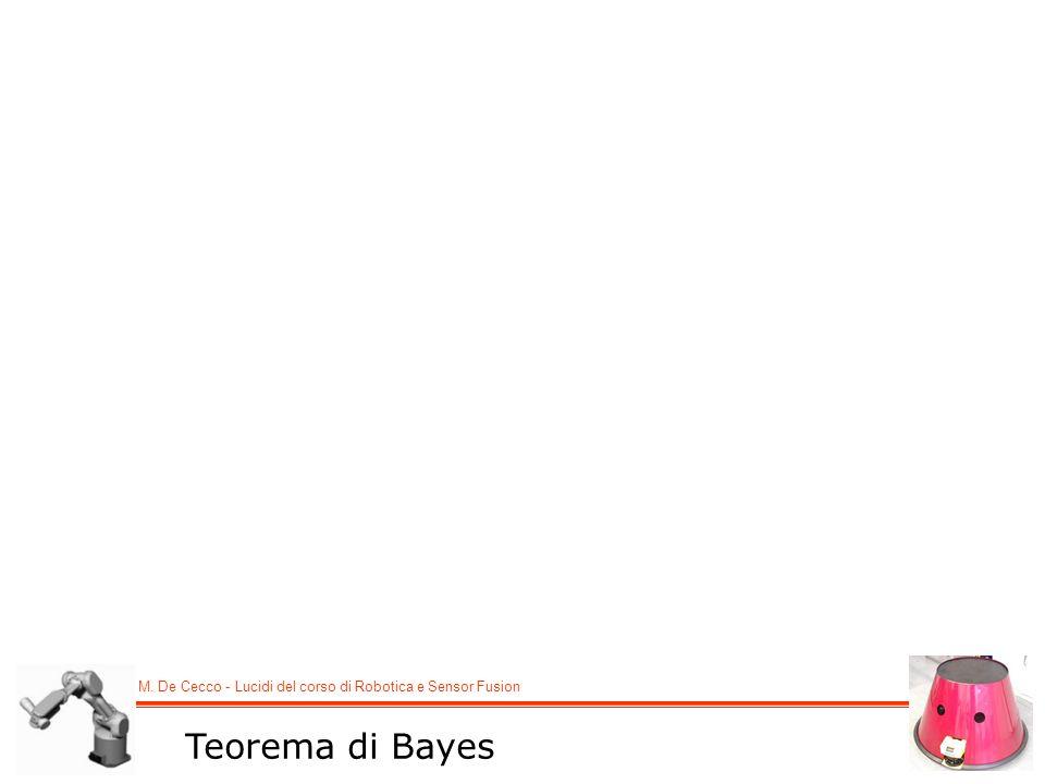 M. De Cecco - Lucidi del corso di Robotica e Sensor Fusion Teorema di Bayes