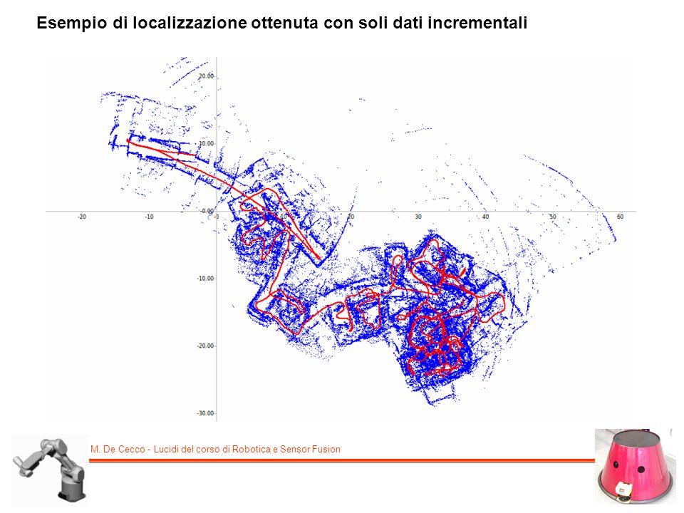 M. De Cecco - Lucidi del corso di Robotica e Sensor Fusion Esempio di localizzazione ottenuta con soli dati incrementali