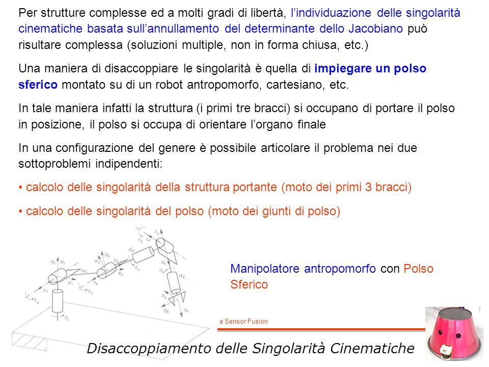 M. De Cecco - Lucidi del corso di Robotica e Sensor Fusion Manipolatore antropomorfo con Polso Sferico Per strutture complesse ed a molti gradi di lib
